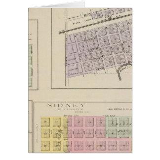 Bazine, Sidney, Nonchalanta, Harold, Kansas Grußkarte