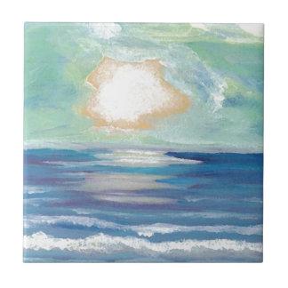 Beach Sunset Ocean Sea Surf Sun Gifts Kleine Quadratische Fliese