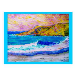 Beachcombing in der salzigen Luft Postkarte