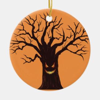 Beängstigender Halloween-Baum Keramik Ornament