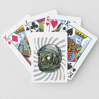 beängstigendes Gesicht des Vintagen Zombies Bicycle Spielkarten
