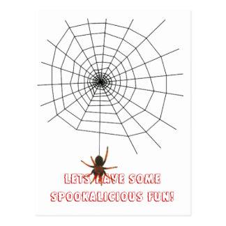 Beängstigendes Spinnennetz Postkarte