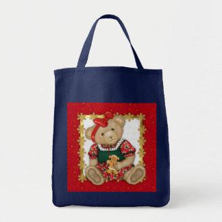 Beary frohe Weihnachten - Mädchen-Teddybär Tragetasche