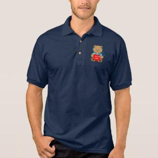 Beary spezieller Krankenschwester-Teddybär mit Poloshirt