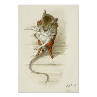 Beatrix Potter-Mäuselesezeitung Poster