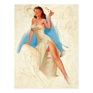 Beautiful PinUp girl Postkarte
