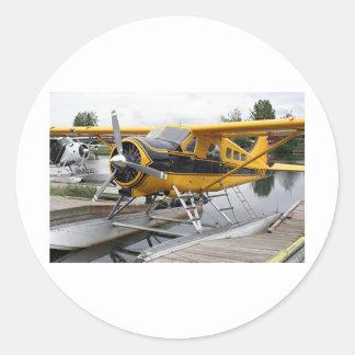 Beaver Floss-Flugzeug, See-Haube, Alaska, USA Runder Sticker