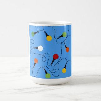 Becher-blaue Party-Lichter! Kaffeetasse