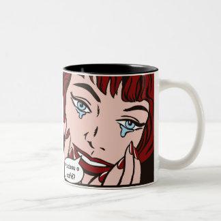 Becher endete den Kaffee Zweifarbige Tasse