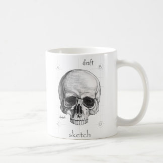 Becher Entwurf des Totenkopfs Kaffeetasse