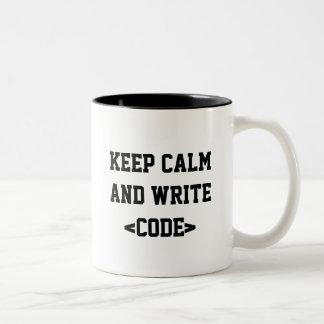 Becher Keep Calm Zweifarbige Tasse