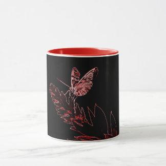 Becher Schmetterling Neon Tasse