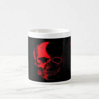 Becher Totenkopf Color Red Tasse