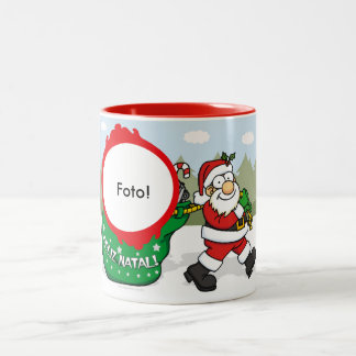 """Becher zwei Tons """"Geschenke des Weihnachtsmanns """" Zweifarbige Tasse"""
