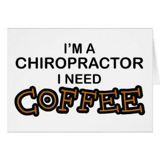 Bedarfs-Kaffee - Chiropraktor Karte