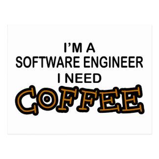 Bedarfs-Kaffee - Software Engineer Postkarte