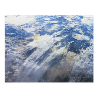 Bedecken Sie von Weltraum 4 mit Erde Postkarte