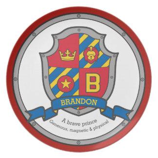 BEDEUTUNGS-Wappenkundeschild Brandon Buchstaben B Teller