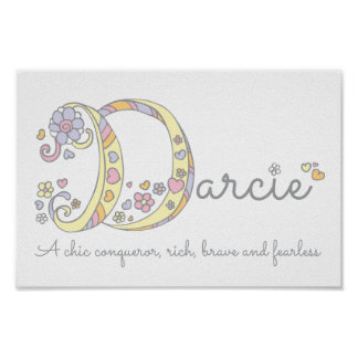 BEDEUTUNGSmädchen-Kunstplakat Darcie Buchstaben D Poster