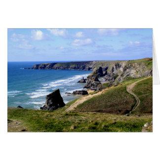 Bedruthan tritt Cornwall Karte
