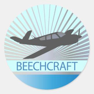 Beechcraft Flugzeuge Runder Aufkleber