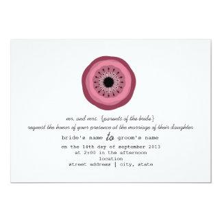 Beeren-Blumen-Hochzeit fordern - von den Eltern 12,7 X 17,8 Cm Einladungskarte