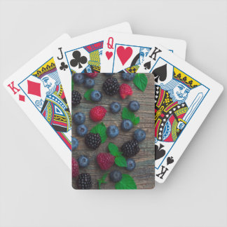 Beerenobsthintergrund Bicycle Spielkarten