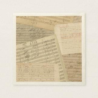 Beethoven-Musik-Manuskript-Gemisch Papierserviette