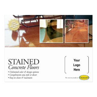 Befleckte konkrete Postkarte