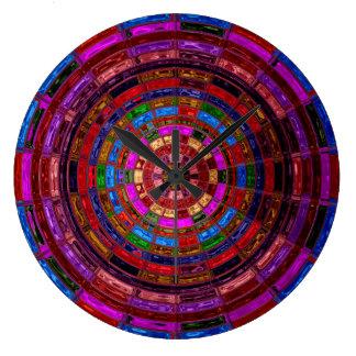 Beflecktes Glas-Mosaik abstraktes #2 Uhren