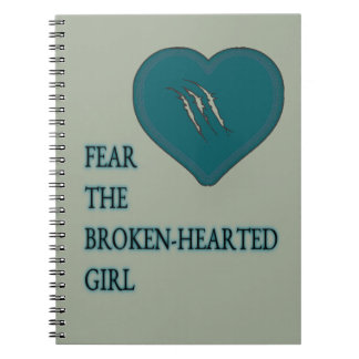 Befürchten Sie das defekte herzige Notizbuch