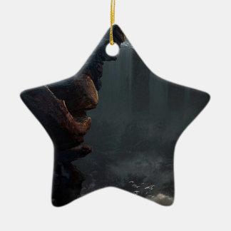 Beginnen Leben in einer anderen Welt Keramik Stern-Ornament