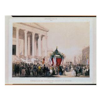 Begräbnis der Opfer des La Madeleine Postkarten