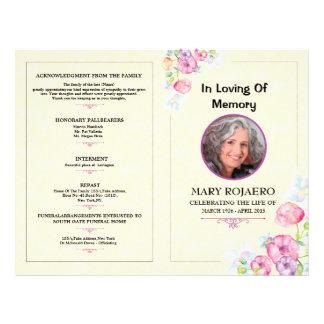 Begräbnis- Programm-Erinnerungsschablone Flyer