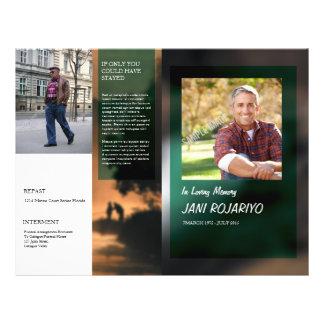 Begräbnis- Programm-Flyer-Schablone Flyer