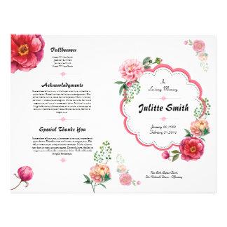 Begräbnis- Programm-mit BlumenFlyer Flyer