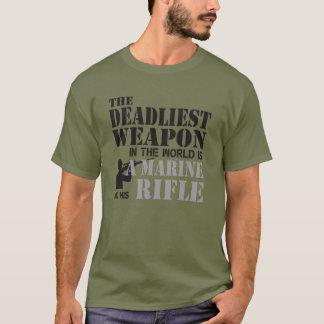 Begrenzte Ausgabe Marine und sein Gewehr T-Shirt