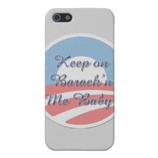 Behalten Sie auf Barack 'n mich kleineres Skript Etui Fürs iPhone 5