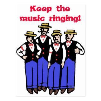 Behalten Sie das Musik-Klingeln! Postkarte