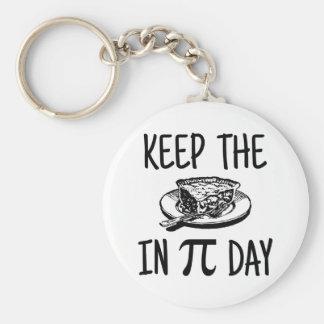 Behalten Sie die Torte an PU-Tag Schlüsselanhänger