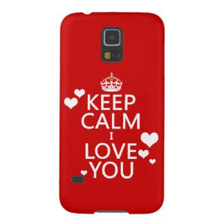 Behalten Sie Liebe der Ruhe-I Sie Farben Samsung Galaxy S5 Cover