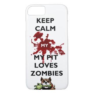 Behalten Sie Muschel mein Pitbull Liebe-Zombies iPhone 8/7 Hülle