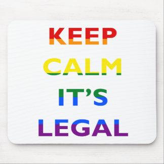 Behalten Sie Ruhe, die es legale Unterstützung Mousepad