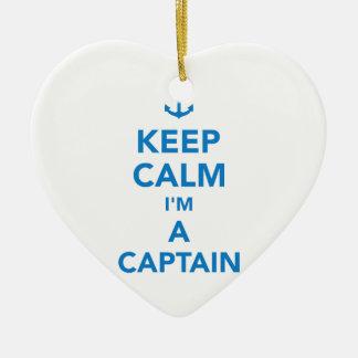 Behalten Sie Ruhe, die ich ein Kapitän bin Keramik Ornament