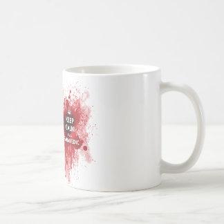 Behalten Sie Ruhe, die ich eine Tasse
