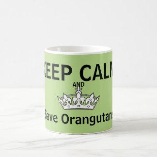 Behalten Sie Ruhe für Orang-Utans Tasse