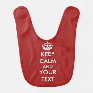 Behalten Sie Ruhe Ihr Text, Ihren eigenen Lätzchen
