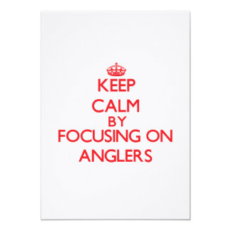 Behalten Sie Ruhe, indem Sie auf Angler sich Personalisierte Einladungen
