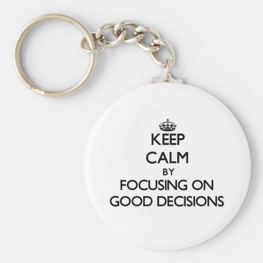 Behalten Sie Ruhe, indem Sie auf gute Schlüsselanhänger
