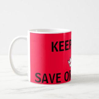 Behalten Sie Ruhe, Orang-Utans weiterzumachen Tasse